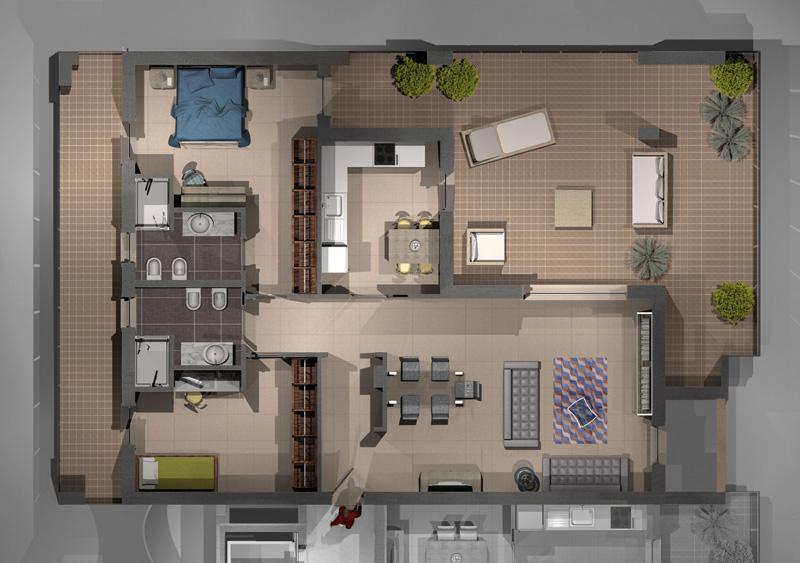 Parchitello alta appartamento a a 6 9 nuove ville e for Nuove case con suite suocera